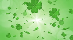 Blowing Clovers - Green color Background Stock Footage