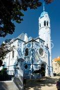 Church of Saint Elizabeth Hungarian called Blue Church, Bratislava, Slovakia Stock Photos