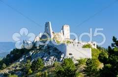 Ruins of Cachtice Castle, Slovakia Stock Photos