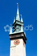Detail of town hall, Znojmo, Czech Republic Stock Photos