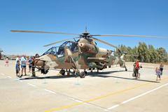 Rooivalk attack helicopter, Bloemfontein, South Africa. Stock Photos