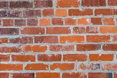 Bricks with masonry mortar joints Stock Photos