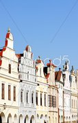 Renaissance houses in Telc, Czech Republic Stock Photos