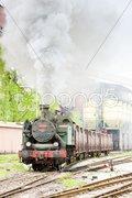Steam freight train, Kolubara, Serbia Stock Photos