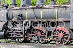 Detail of steam locomotive (126.014), Resavica, Serbia Stock Photos