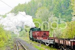 Narrow gauge railway, Banovici, Bosnia and Hercegovina Stock Photos