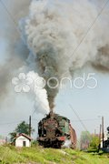 Steam freight train, Durdevik, Bosnia and Hercegovina Stock Photos