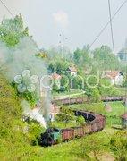 Steam freight train, Durdevik, Bosnia and Hercegovina Stock Photos