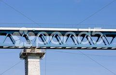 Detail of railway viaduct, Znojmo, Czech Republic Stock Photos