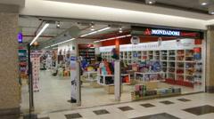 Mondadori Store Parco Leonardo Fiumicino Italy Stock Footage