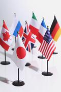National flags on white background Stock Photos