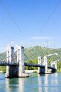 Le pont du robinet - bridge over Rhone river, Donzere, Drome Departement, Rhone- Stock Photos