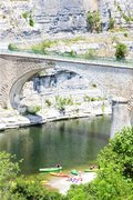 Bridge in Balazuc, Rhone-Alpes, France Stock Photos