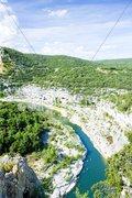 Ardeche Gorge, Rhone-Alpes, France Stock Photos