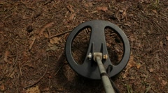 Search for treasure. The coil metal detector. Stock Footage
