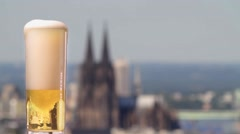 """German beer """"Kölsch"""" from Cologne Stock Footage"""