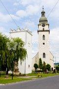 St. Anthony''s church and belfry, Spisska Bela, Slovakia Stock Photos