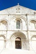 Aux Dame Abbey, Saintes, Poitou-Charentes, France Stock Photos