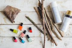 Nail polish for homemade decoration Stock Photos