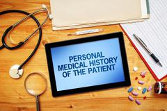 Personal medical history of the patient, healthcare concept Stock Photos