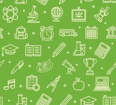 School Background Pattern. Vector Piirros