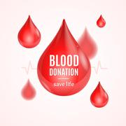 Blood Donation Concept. Vector Stock Illustration