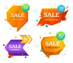 Geometry Sale Label Set. Vector Stock Illustration