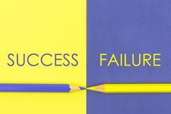 Success versus Failure contrast concept Stock Photos