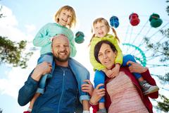 Family Adventure at Carnival Stock Photos