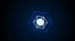 Futuristic geometric abstraction Stock Footage