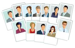 Businessmen and businesswomen application Stock Illustration