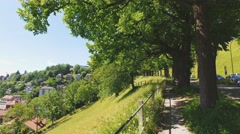 View of an Old Town of Bern, Switzerland, Summer. 4K Stabilized shot. Stock Footage