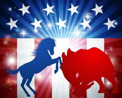 American Election Concept Stock Illustration