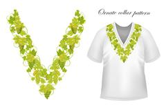 Neck print vector floral design. Fashion white lace collar.  illustration Stock Illustration