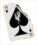 Burned Death Card Stock Illustration