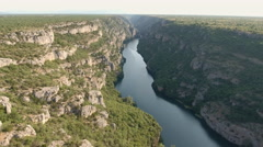 Flight over the canyon Stock Footage
