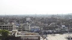 Ghanta Ghar Chowk and cityscape  in Multan Pakistan Stock Footage