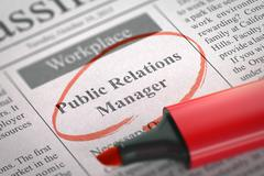 We are Hiring Public Relations Manager. 3D Illustration Stock Illustration