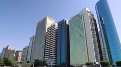 Corniche in Abu Dhabi - capital of the United Arab Emirates Stock Footage