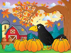Crow theme image - eps10 vector illustration. Stock Illustration