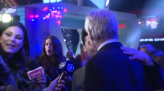 Harrison Ford at the Star Wars: The Force Awakens UK Premiere Stock Footage