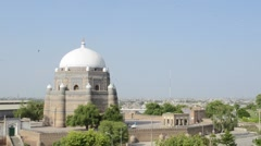 Tomb of Shah Rukn-e-Alam in Multan Pakistan Stock Footage
