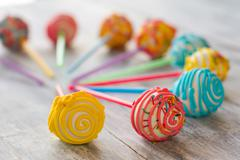 Bright decorated sweets. Stock Photos