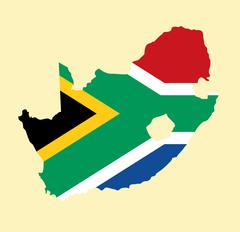 South Africa vector map Stock Illustration