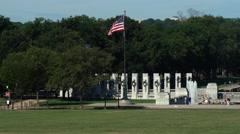World War II Memorial Stock Footage