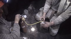 Coal scientists Stock Footage