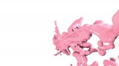 Flying blue fluid stream in slow motion DOF. Paint. Stock Footage