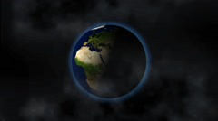 Earth In Space, animation Stock Footage