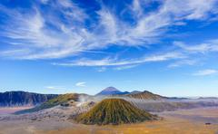 Bromo volcano at sunrise, East Java, Indonesia Stock Photos