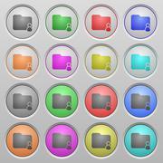 Folder owner plastic sunk buttons Stock Illustration